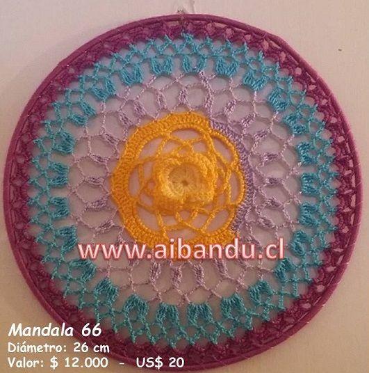 Mandala 66 .... tejido a crochet ...