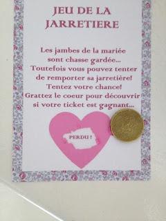Les moineaux de la mariée: DIY : Le ticket gagnant 2 idées: le ticket à gratter + le jeu de la jarretière revisité !