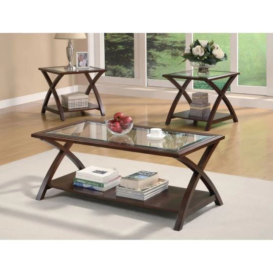 Coaster Furniture 3 Piece Glass Top with Shelf Coffee Table Set - - 25+ Best Ideas About Transitional Coffee Table Sets On Pinterest
