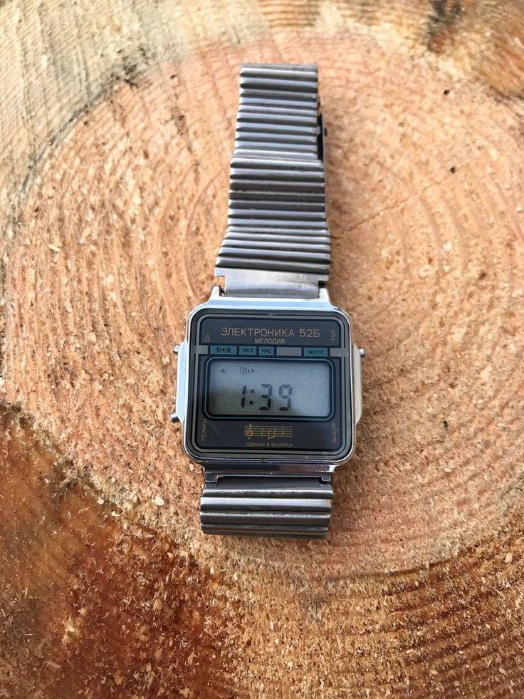 Electronika 52b Электроника Rare Vintage  watch LCD Digital Belarus Quartz USSR  | eBay