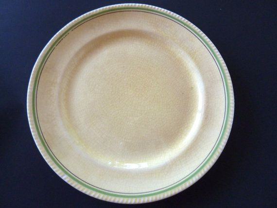 6 Sebring Plates The Green Gables Golden by BonniesVintageAttic, $35.00