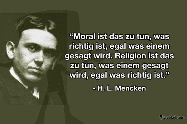H. L. Mencken über Religion und Moral -