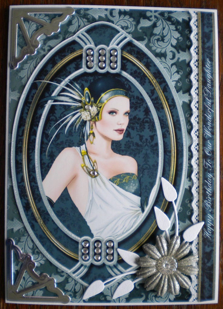 Made using Debbi Moore's Art Deco Diamonds and Lace CD