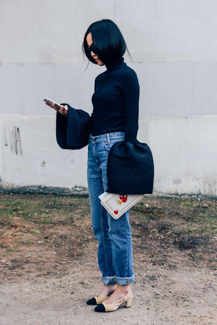 Tags Chanel, Paris, Jeans, Turtlenecks, Yoyo Cao, SS16 Women's, Céline