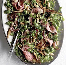 steak and arugula salad with white beans and shiitake arugula salad ...