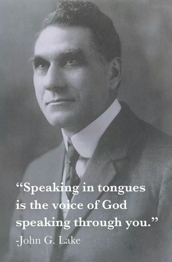 Speaking in tongues is the voice of God speaking through you.