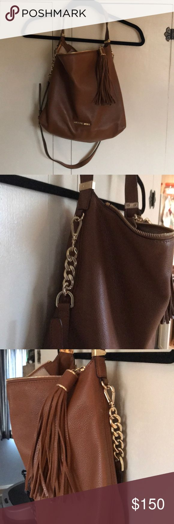 Light Brown Michael Kors Hobo Amazing Soft Brown Michael Kors bag with large zip tassel. Beautiful. Michael Kors Bags Hobos