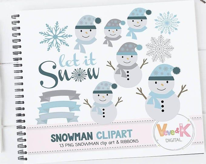 Cute Snowmen Faces Clipart Funny Snowman Mouth Eyes Nose Etsy Snowman Faces Funny Snowman Clip Art