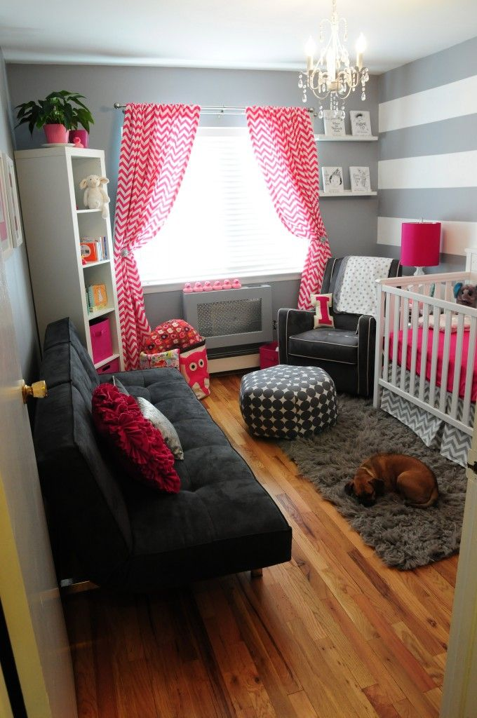 Love the pink and gray!