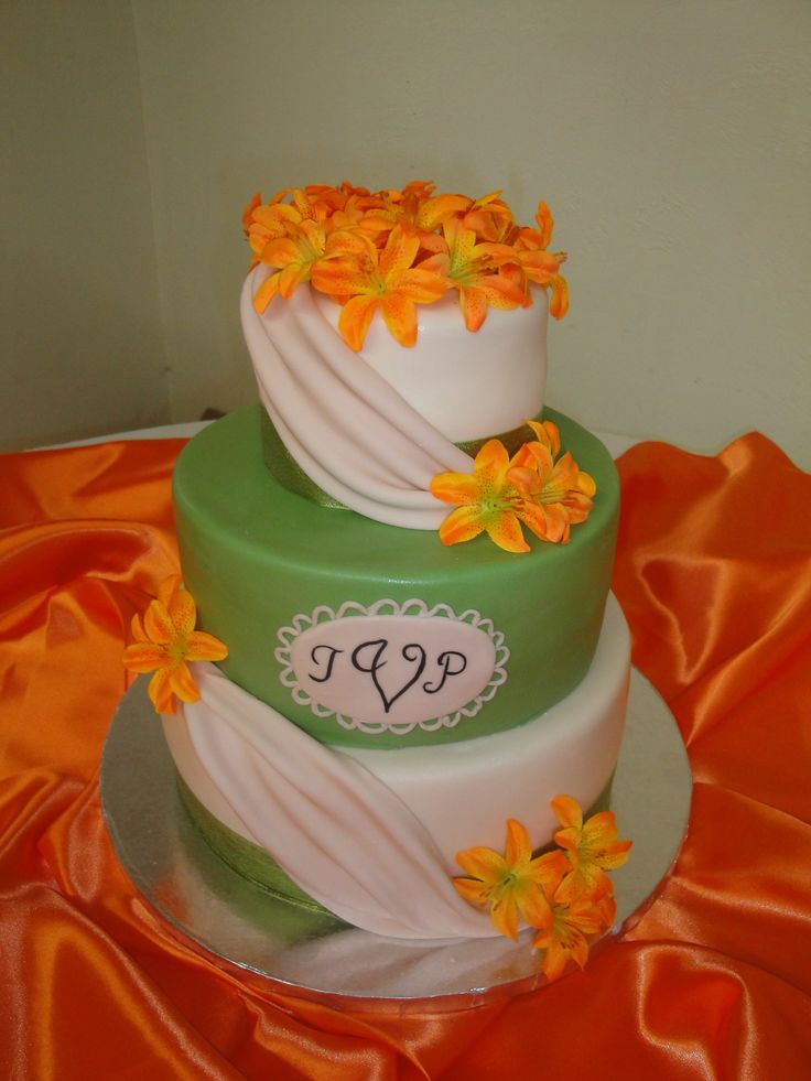 pictures of orange and green wedding cakes 47 best orange and green wedding images on 18416