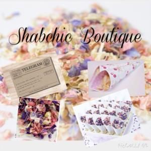 ShabChic Boutique is a Wedding Supplier of Flowers, Table Decorations, Venue Decorations, Favours & Gifts. Are you planning your Big Day and looking for wedding items, products or services? Why not head over to MyWeddingContacts.co.uk and take a look at ShabChic Boutique's profile page to see what they have to offer. Helping make your wedding day into a truly Amazing Day. Oh, and good luck and best wishes with your Wedding.