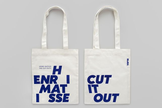 "MoMA Design Studio – ""Shifting"" identity for Henri Matisse: The Cut-Outs exhibition (tote bag)"