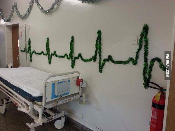 Christmas decorations at the hospital - 9GAG