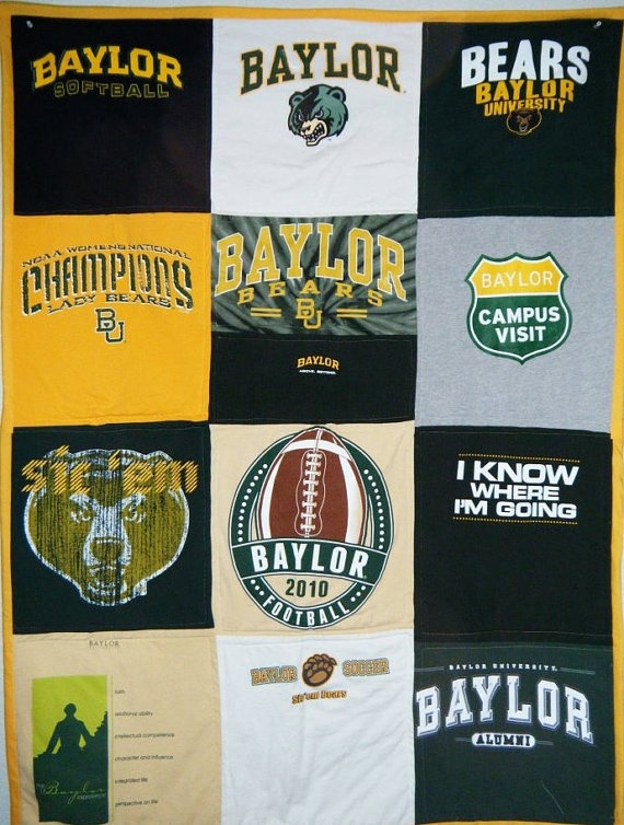 #Baylor Bears TShirt Tailgate Quilt by StitchesForWishes on Etsy, $150.00. So Proud of my little!