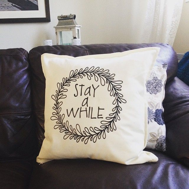 Customize apparel, accessories & home decor with your Silhouette - like this pillow made by @carilocken using heat transfer material. #SilhouetteRocks #HeatTransfer