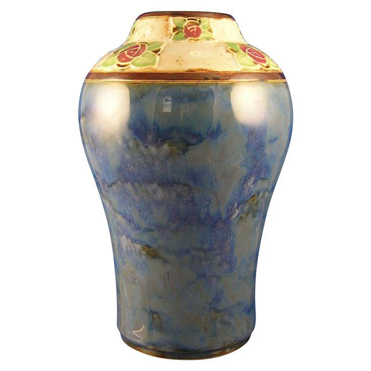 Royal Doulton Arts Amp Crafts Rose Motif Vase Signed By