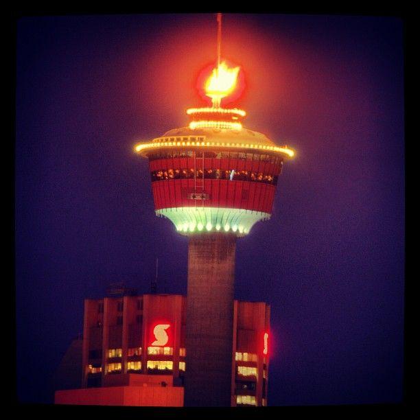 Studio Lighting Calgary: Calgary Tower On Fire!