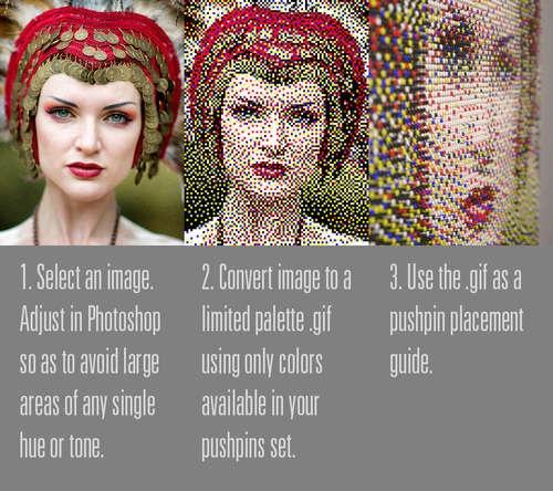 DIY pushpin artPushpin Art, Pushpin Overview Jpg, Perler Beads, Pushpin Portraits, Art Tutorials, Push Pin Art Diy, Pixel Art, Pushpinoverviewjpg, Crafts