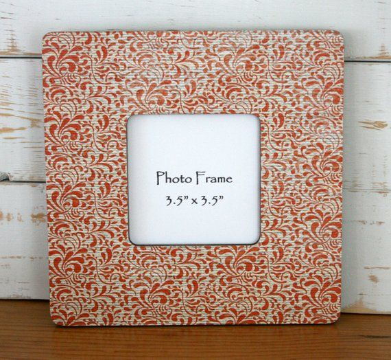 orange paisley picture frame orange picture frame orange frame