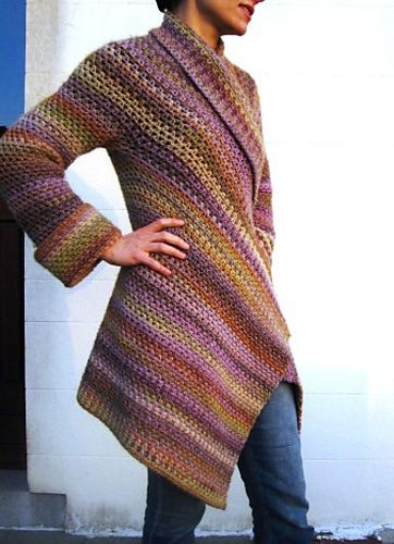 Ravelry: Project Gallery for Asymmetrical Jacket pattern by Doris Chan