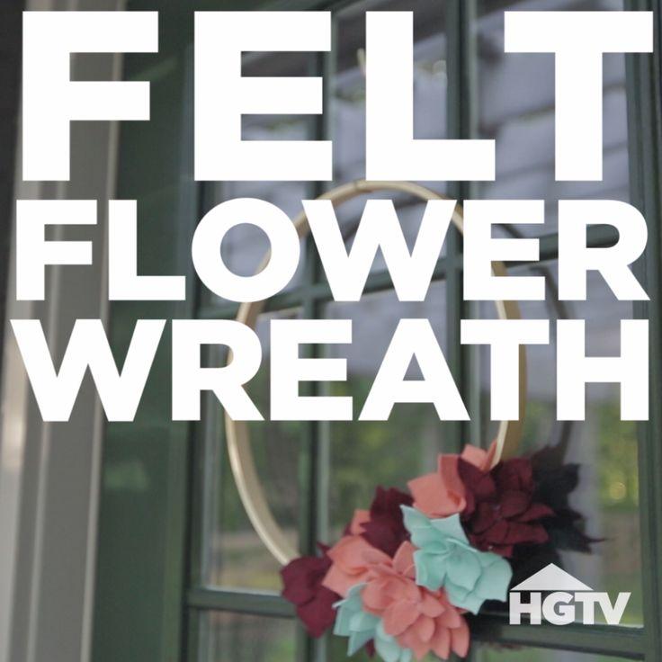 DIY Fall Felt Flower Wreath