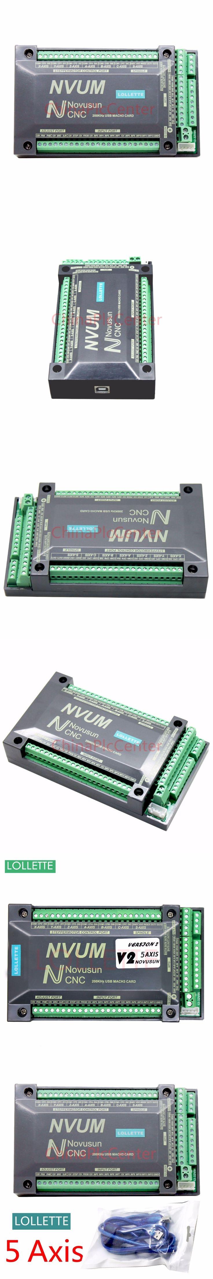 NVUM 5 Axis CNC Controller MACH3 USB Interface Board Card 200KHz for Stepper Motor