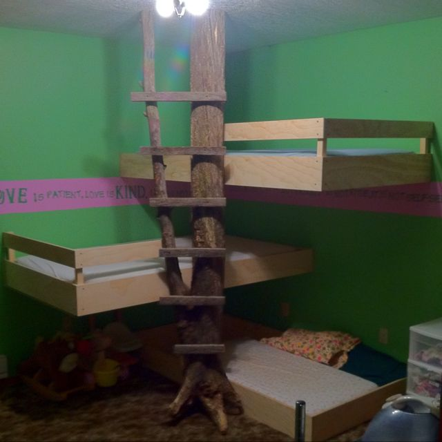56 Best Images About Three Kids Beds In One Room On Pinterest