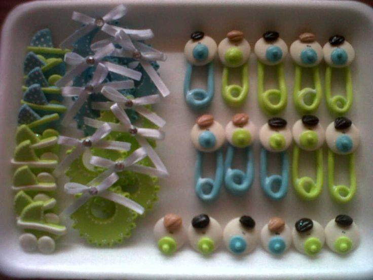 Apliques Miniaturas, Baby Shower, .masa Flexible. - Bs. 390,00 en MercadoLibre