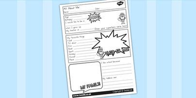 Preview: All About Me Worksheet  Australian spelling
