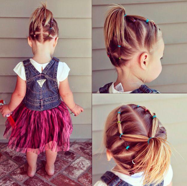 Прически для маленьких девочек из хвостиков фото