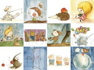 """"""" Írisz AGÓCS,es  una de las más queridas artistas en el mundo de los libros infantiles húngaros.  Írisz nació en 1977 en Baja, Hungría. Ha empezado a ilustrar en 2007. Su dibujos son únicos, llenos de cariño y sencillez."""""""