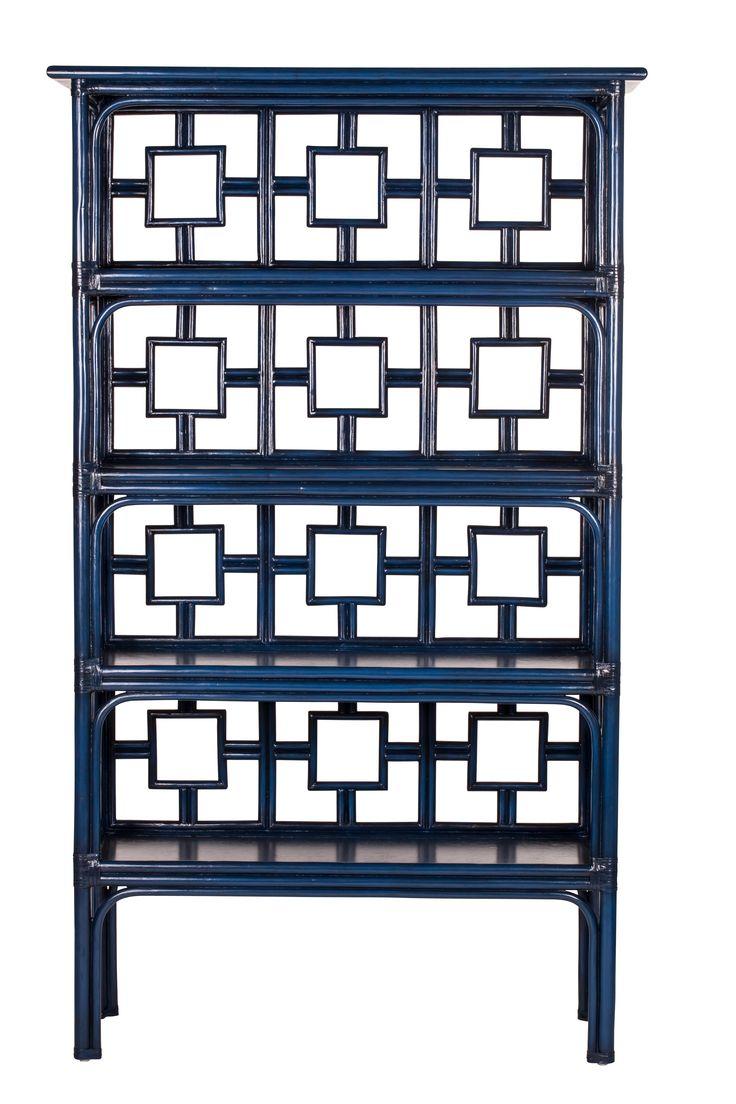best indigo images on pinterest - sobe etagere from david francis furniture in indigo davidfrancisfurnitureauthenticfurnishings rattan etagere