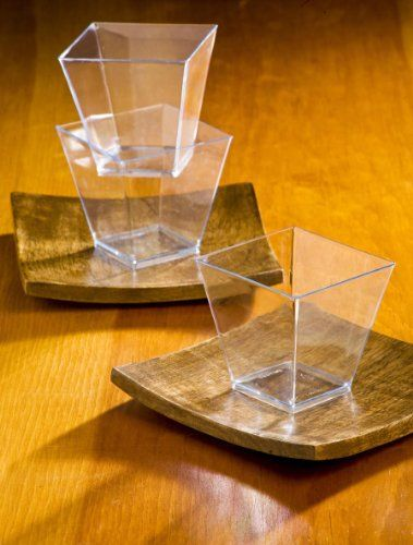 buy elegant square mini clear tasting sample shot glasses 100 ct dessert cups size cm color transparent at geek smarter shopping