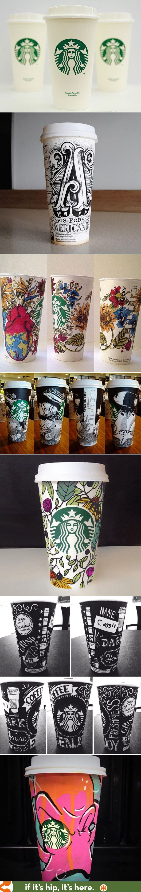 Although these didn't win, these are my picks for the best Starbucks White Cup Contest. Learn about the artists at the link.