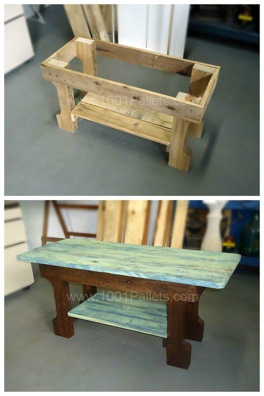 Shabby Chic Pallet Coffee Table