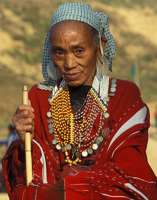 Myanmar, Burma. | Portrait of a Naga woman |  ©deepchi1, via flickr