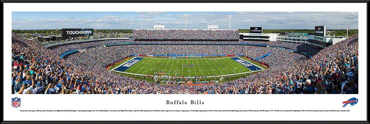 Buffalo Bills - Ralph Wilson Stadium Panoramic Picture Framed