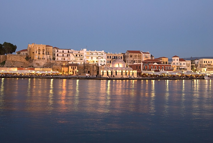 The old harbour of Chania, Crete, Greece