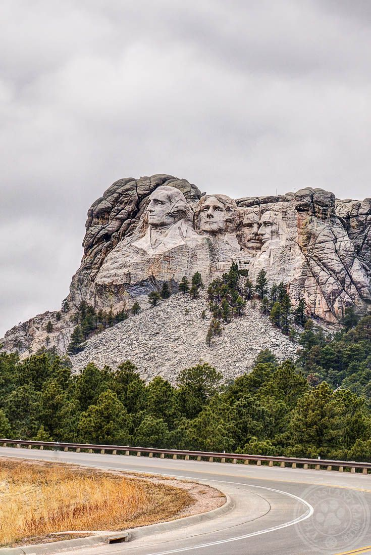 Mount Rushmore on a cloudy day just outside of Rapid City South Dakota. One of the many stops included in our guide :-)
