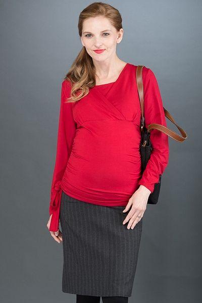 37986ecbbcea Černo šedá těhotenská sukně úzkého střihu Blúzky