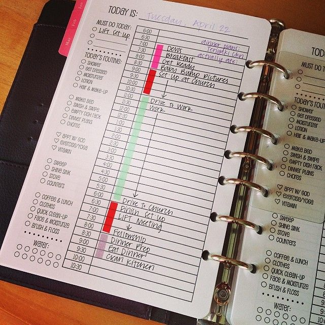 A customised To Do list, with morning routine and water intake included. Such a good idea; can't believe I never thought of it!