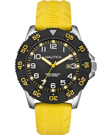 NAUTICA NSR 103 Yellow Rubber Strap Η τιμή μας: 110€ http://www.oroloi.gr/product_info.php?products_id=38338