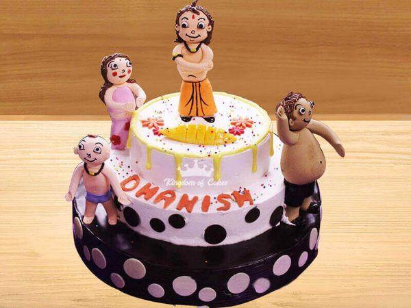 Fabulous Order Online Chhota Bheem Cake For Kids Unique Designer Birthday Birthday Cards Printable Nowaargucafe Filternl