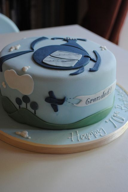 Helicopter birthday cake by Bath Baby Cakes, via Flickr