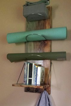 Yoga Mat Storage Shelf – Reinforced steel rod holes, heavier yoga mat use, yoga storage – Abram Haich
