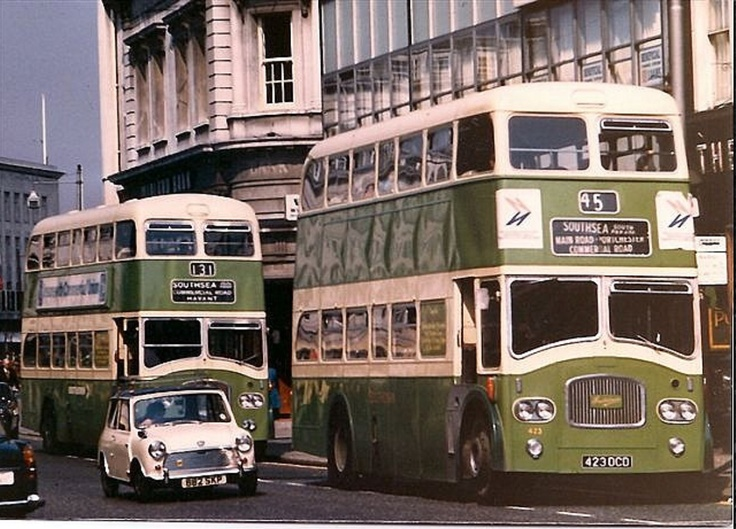 Good old Southdown double decker buses in portsmouth