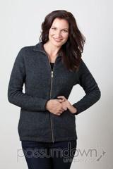 Women's Zip Jacket Possum Fur Merino Wool
