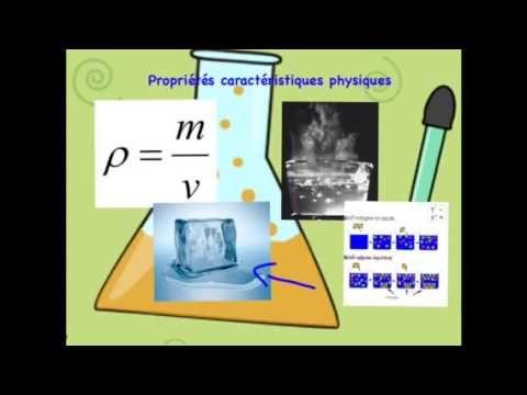 Sciences - Propriétés caractéristiques physiques et chimiques