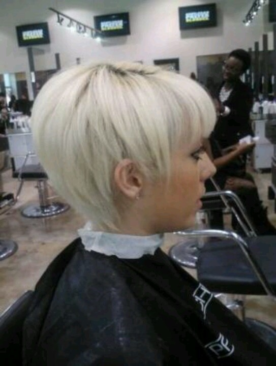 Platinum pixie with bangs Short Hairstyle cuts