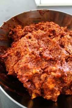 Mexican Chorizo - my mom makes this with the abundance of deer hamburger meat we have every year with 3 hunters in the house. Just as delicious and leaner than pork!